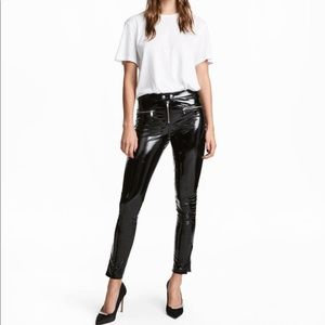 H&M Slim Patent Faux Leather Pants